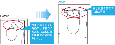 INAX アメージュシャワートイレ(マンションリフォーム)