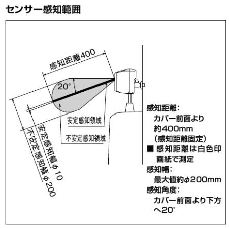 inax 小便器_U-321RM_センサー感知範囲